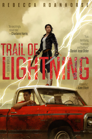 The cover of Trail of Lightning, by Rebecca Roanhorse.