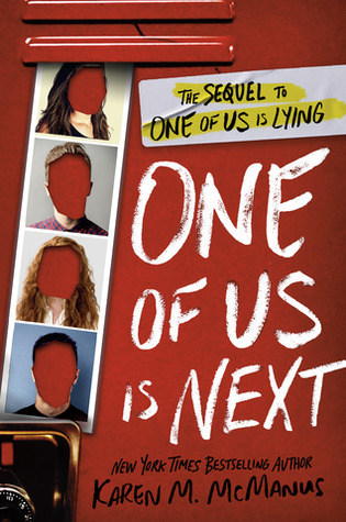 The cover of One of Us is Next, also reminiscent of McManus' previous books.