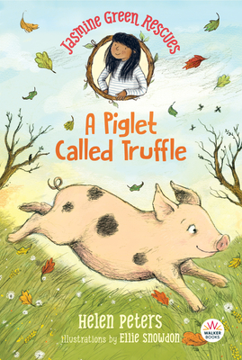 The cover of A Piglet Called Truffle, featuring a pink piglet running through the grass.